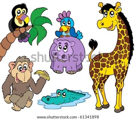 Set of African animals 2 - vector illustration. - stock vector