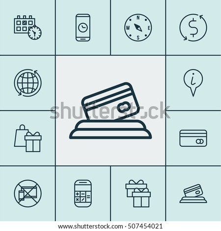 Set Of Airport Icons On Forbidden Mobile, Calculation And Money Trasnfer Topics. Editable Vector Illustration. Includes Mobile, Globe, Device And More Vector Icons.