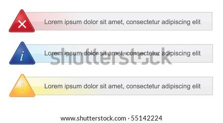Set of Alert messages - stock vector