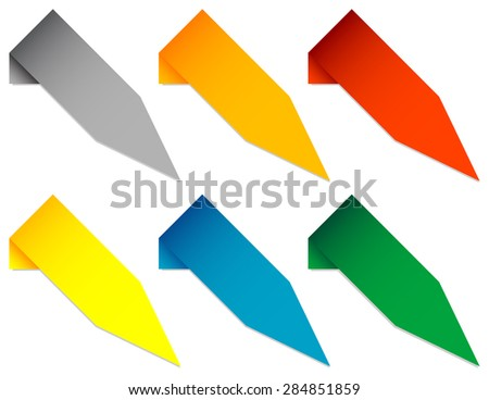 Set of Angled Pointers - stock vector