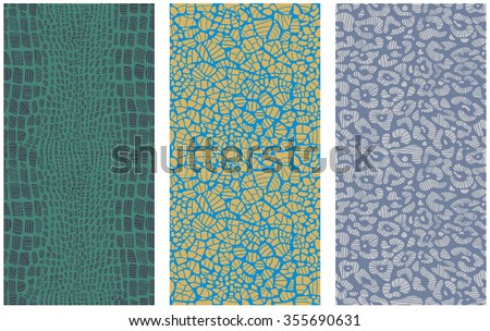 Set of animal print patterns - stock vector