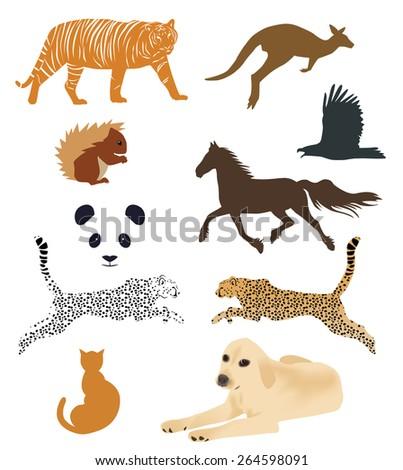 set of animal vectors - stock vector
