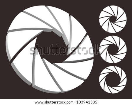 Set of aperture logo. - stock vector