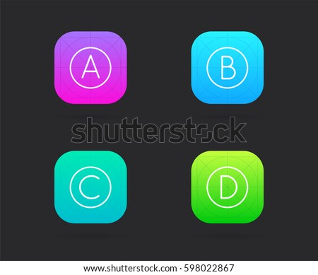 set app icon template guidelines vectorのベクター画像素材 598022867