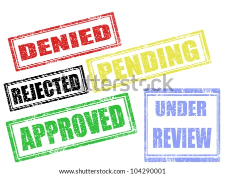 Set of approval grunge rubber stamps,vector illustration - stock vector