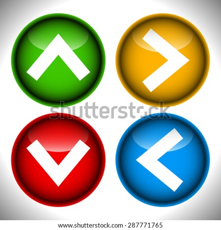 Set of arrow buttons, arrow icon. Vector graphics. - stock vector