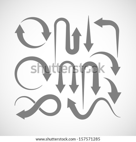 set of arrow icons - stock vector