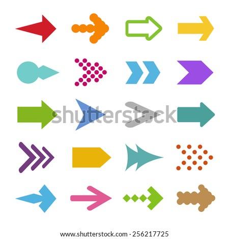 set of arrow icons - stock vector
