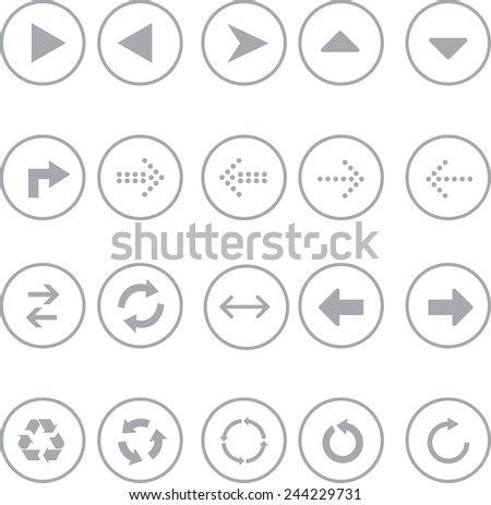 Set of Arrow sign icon - stock vector