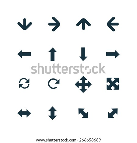 set of Arrows icons on white background