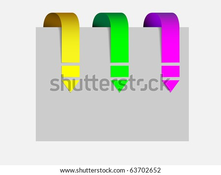 Set of arrows pointing - stock vector