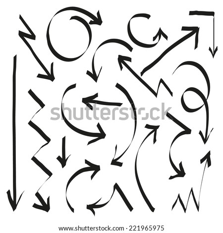 Set of arrows, vector illustration - stock vector