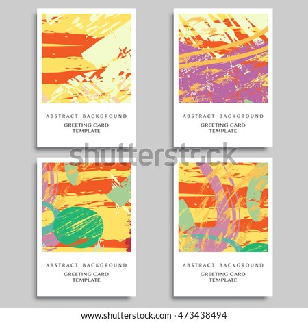 Set artistic backgrounds templates greeting cards stock vector set of artistic backgrounds templates for greeting cards or invitations abstract art painting m4hsunfo