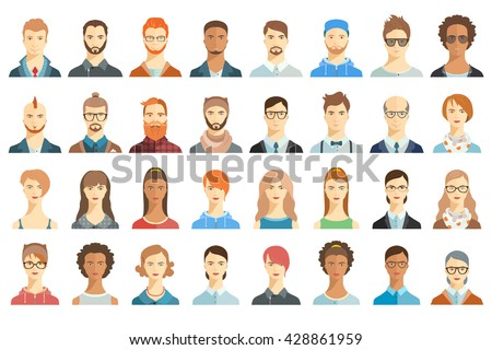 Set of avatar icons. - stock vector