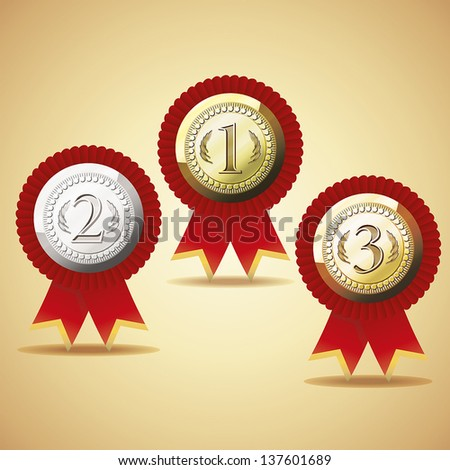 Set Of Awards - stock vector