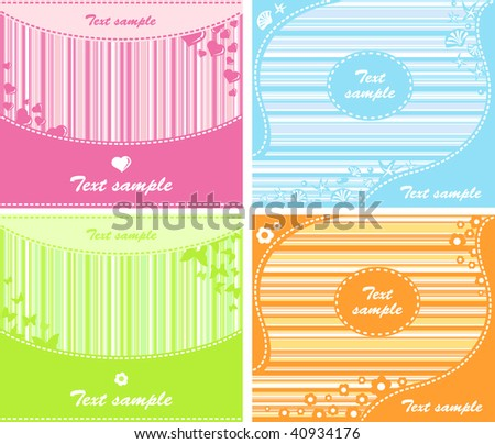Set of background - stock vector