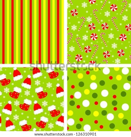set of backgrounds for scrapbook - stock vector