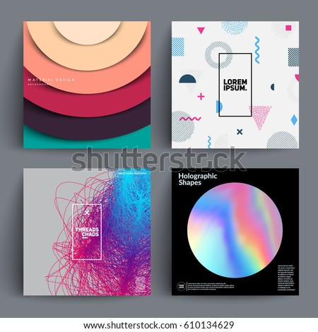 Set of backgrounds with trendy design. Applicable for Covers, Placards, Posters, Flyers and Banner Designs. Eps10 vector templates.