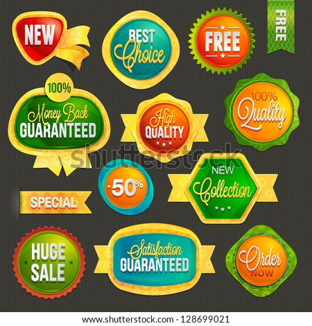 Set of badges and labels - stock vector