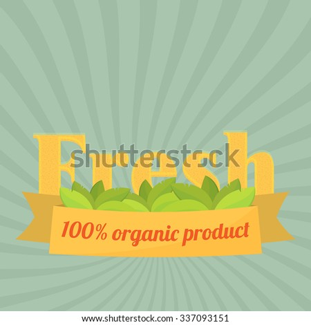Set of badges and labels elements for organic food and drink. Organic, bio, natural, eco, logo vector - stock vector