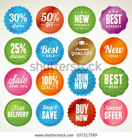 Set of badges and stickers - stock vector