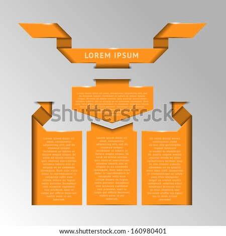 Set of badges, labels and ribbons for text - stock vector