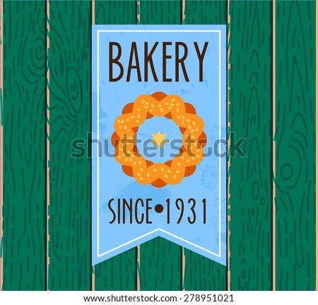 Set of bakery logos, labels and design Elements. Fresh bread, cakes, pies. In vintage style. - stock vector