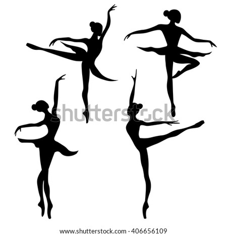 Set of ballet dancer - stock vector