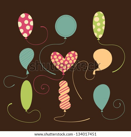 Set of balloons vector