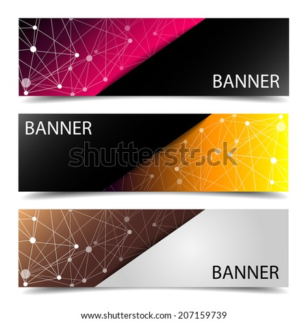 Set of banner design with corporate identity