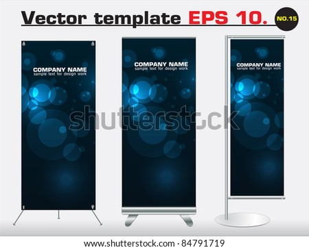 Set of banner stand display with identity background ready for use. Vector template for design work - stock vector