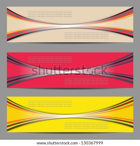 Set of banners design - stock vector