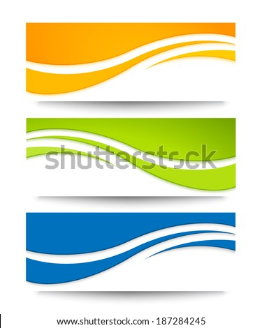 Set of banners for your design. - stock vector
