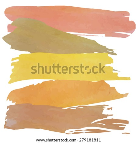 Set of banners. Vector illustration.brown pink yellow tone color.Vintage logo summer - stock vector