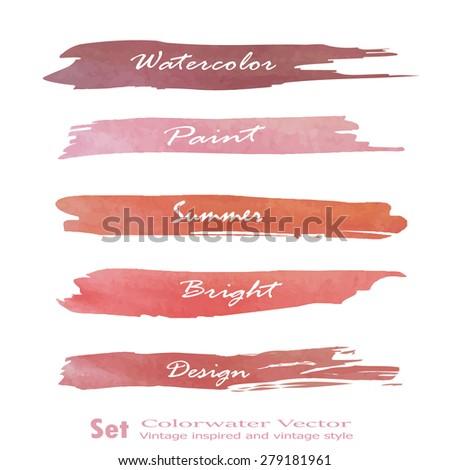 Set of banners. Vector illustration.red pink violet tone color.Vintage logo - stock vector