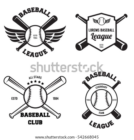 Baseball emblem stock images royalty free images for Softball uniform design templates