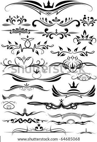 set of beautiful design elements for different use. - stock vector