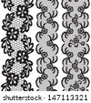 Set of beautiful lace vector trims. Can be used for use with backgrounds or scrap-booking. - stock vector