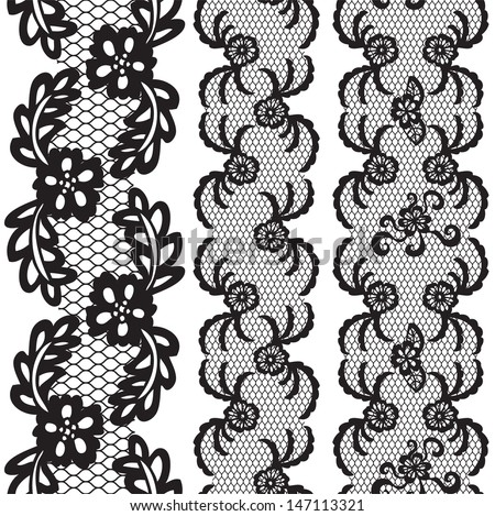 Set of Beautiful Lace Vector