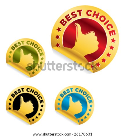 "set of ""best choice"" stickers - stock vector"