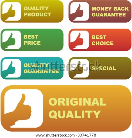 Set of best price and quality guaranteed seals - stock vector