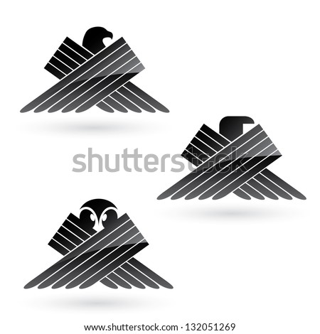 Set of bird symbols - vector illustration - stock vector