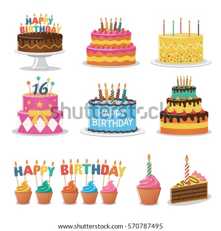 Birthday Cake Stock Images RoyaltyFree Images  Vectors - Birthday cake free