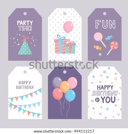 Set birthday labels template funny illustration stock vector 2018 set birthday labels template funny illustration stock vector 2018 494112217 shutterstock stopboris Choice Image