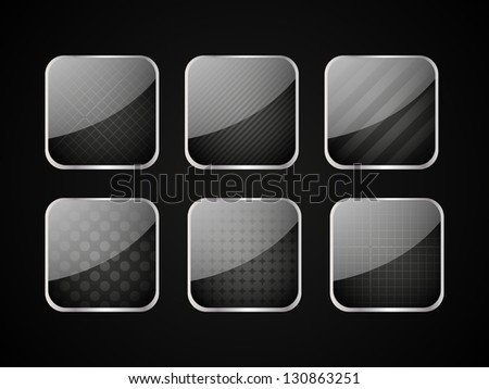 Set of black apps icons