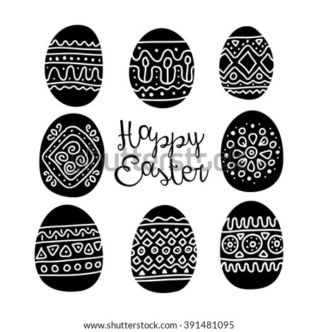 Vintage Easter Greeting Card Egg Vector Stock Vector