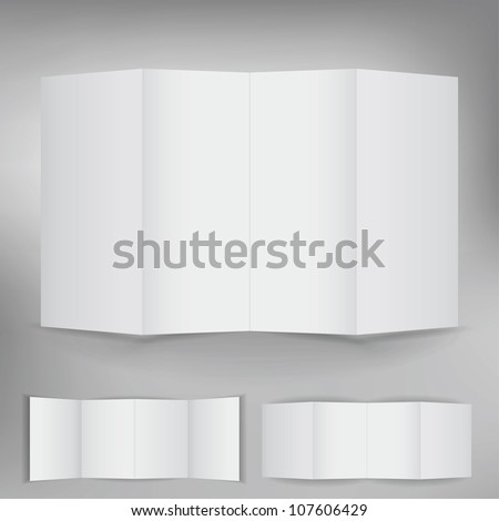 Set of blank brochure for advertising text - stock vector