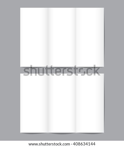 Set Blank Brochure Mockup Template A Stock Vector