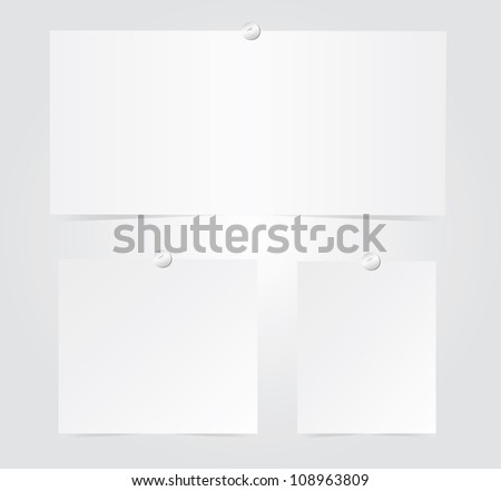 Set of blank paper.Vector