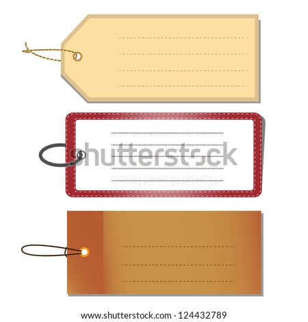 Set of Blank Tags, Vector Illustration - stock vector